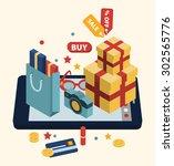 isometric illustration of... | Shutterstock .eps vector #302565776