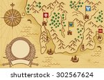 old map  | Shutterstock . vector #302567624