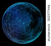 Abstract Network Globe....
