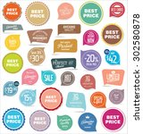 badges and labels collection | Shutterstock .eps vector #302580878