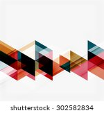 abstract geometric background.... | Shutterstock .eps vector #302582834