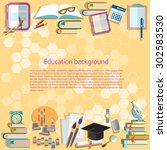 education background back to... | Shutterstock .eps vector #302583530