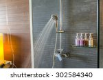 shower while running water | Shutterstock . vector #302584340