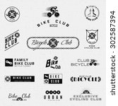 bicycle badges logos and labels ... | Shutterstock .eps vector #302587394