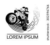 logo motorcyclist | Shutterstock .eps vector #302596766