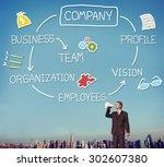 company organization employees...   Shutterstock . vector #302607380