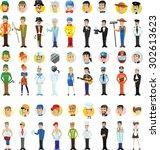 cartoon vector characters of... | Shutterstock .eps vector #302613623