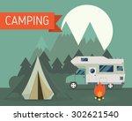 national park mountain... | Shutterstock .eps vector #302621540