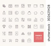 finance outline icons for web... | Shutterstock .eps vector #302625428