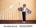 portrait of young businessman... | Shutterstock . vector #302625890