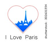 i love paris   the template for ... | Shutterstock .eps vector #302631554