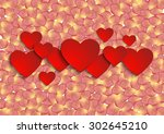 illustration of valentines day... | Shutterstock .eps vector #302645210