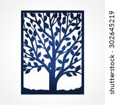 abstract frame with tree. may... | Shutterstock .eps vector #302645219