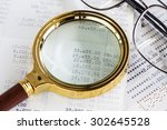 close up of saving account... | Shutterstock . vector #302645528