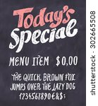 today's special menu.... | Shutterstock .eps vector #302665508