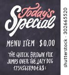 today's special menu.... | Shutterstock .eps vector #302665520
