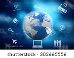 globe internet connecting | Shutterstock . vector #302665556