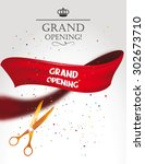 grand opening card with gold... | Shutterstock .eps vector #302673710
