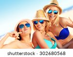 a picture of a group of women... | Shutterstock . vector #302680568