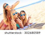 a picture of a group of women... | Shutterstock . vector #302680589