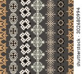 tribal art boho seamless... | Shutterstock .eps vector #302680994