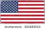 grunge usa flag.american flag... | Shutterstock .eps vector #302683010
