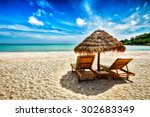 vacation holidays background... | Shutterstock . vector #302683349