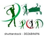 Lady Golfer Icons Golf Icon Logo
