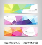 abstract geometric background   ... | Shutterstock .eps vector #302695193