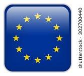 vector   europe flag smartphone ... | Shutterstock .eps vector #302700440