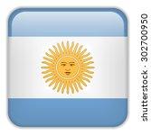 vector   argentina flag... | Shutterstock .eps vector #302700950