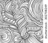 decorative hand drawn nature... | Shutterstock .eps vector #302708249