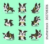 cartoon character boston... | Shutterstock .eps vector #302708306