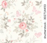 seamless floral pattern with... | Shutterstock .eps vector #302714453