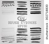 vector set of grunge shades of... | Shutterstock .eps vector #302718830
