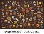 colorful vector hand drawn... | Shutterstock .eps vector #302723453