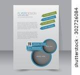 flyer template. business... | Shutterstock .eps vector #302726084