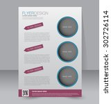 flyer template. business... | Shutterstock .eps vector #302726114