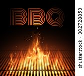 bbq fire grille | Shutterstock .eps vector #302728853