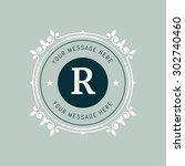 the letter r flourishes... | Shutterstock .eps vector #302740460