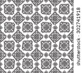 geometric seamless pattern in... | Shutterstock . vector #302741918