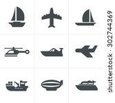 Vector Black Transport Icons