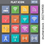 vector application wireless and ... | Shutterstock .eps vector #302744900