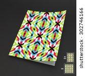 seamless vector background. a4... | Shutterstock .eps vector #302746166
