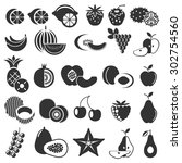 fruit and exotic  icon... | Shutterstock .eps vector #302754560