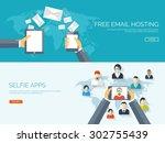 flat vector illustration.... | Shutterstock .eps vector #302755439