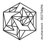 line linear geometric geometry... | Shutterstock .eps vector #302756096