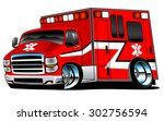 red paramedic ambulance rescue... | Shutterstock .eps vector #302756594
