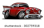 american classic muscle car hot ... | Shutterstock .eps vector #302759318