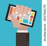 byod digital design  vector...   Shutterstock .eps vector #302760170